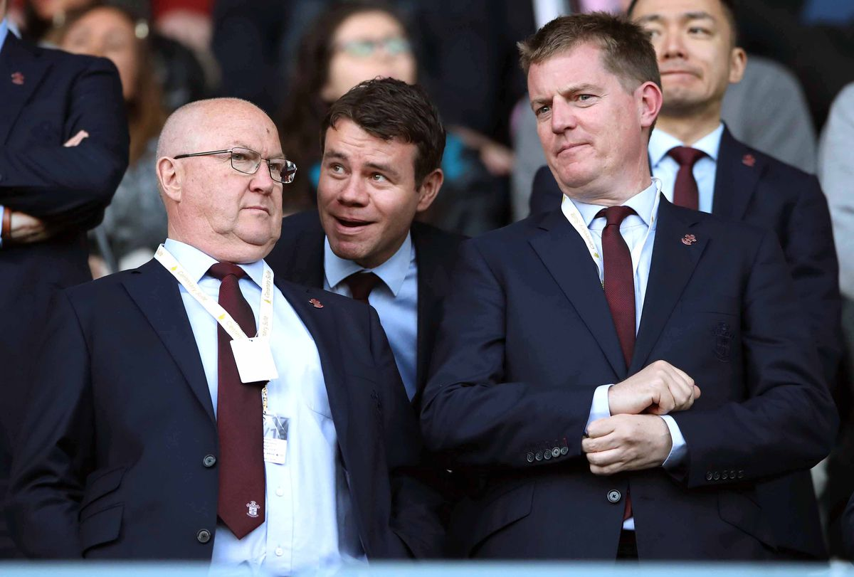 Southampton director Martin Semmens with former Director of Football Les Reed and ex-director of scouting and recruitment Ross Wilson