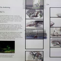 The section after the annotated playthrough contains the developers' storyboards for all the cutscenes in the game.