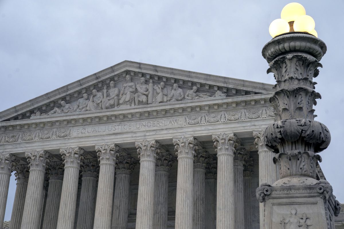 In this Jan. 7, 2019 photo, The Supreme Court is seen in Washington. Supreme Court justices are again considering how to keep prosecutors from removing African-Americans from criminal juries for racially biased reasons, this time in a case involving a Mis