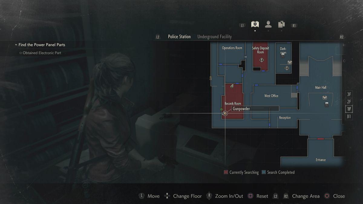 Resident Evil 2 Records Room