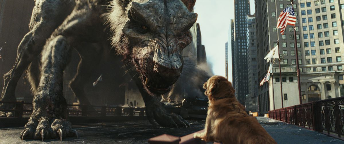 Rampage is laughably dumb, but at least there's plenty of rampaging