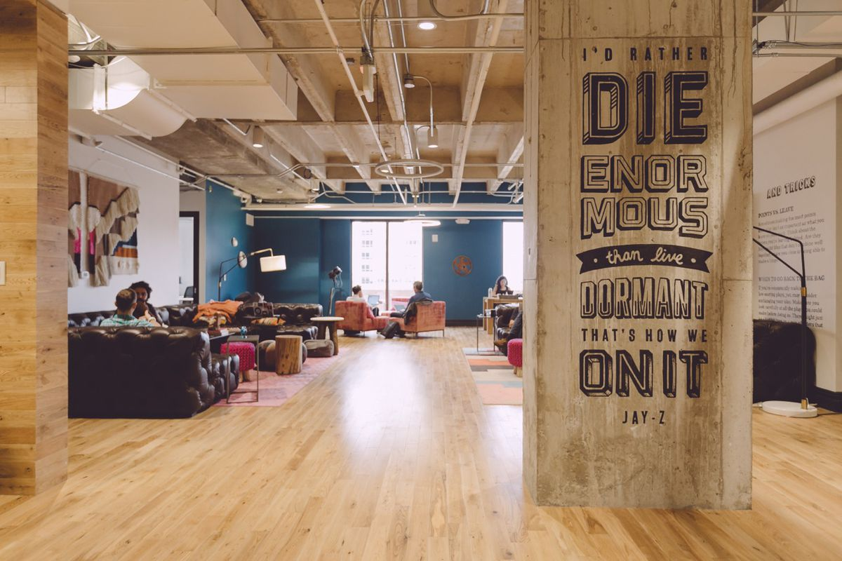 A WeWork office interior