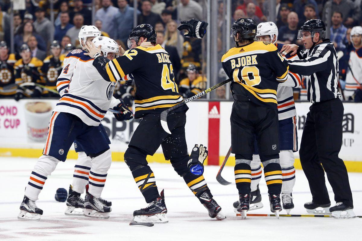 NHL: Edmonton Oilers at Boston Bruins