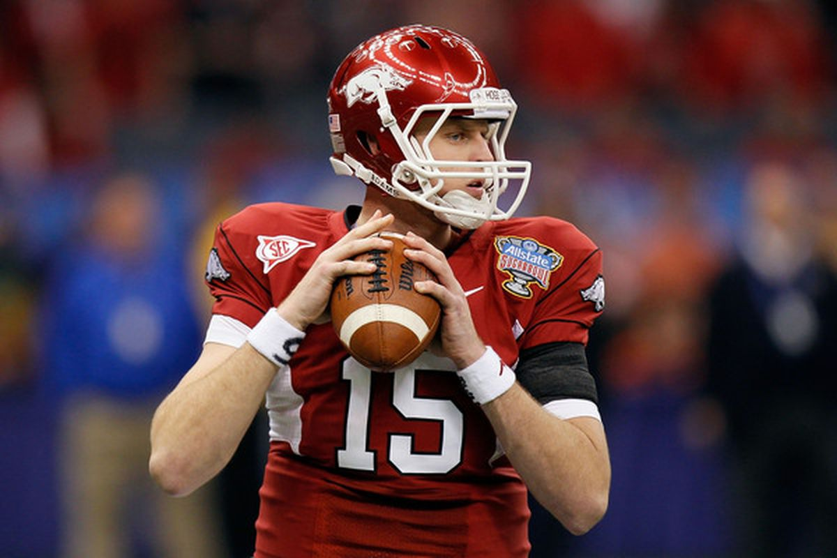 Ryan Mallett managed to lose to Ohio State as the quarterback for Michigan AND Arkansas.  Just sayin'...