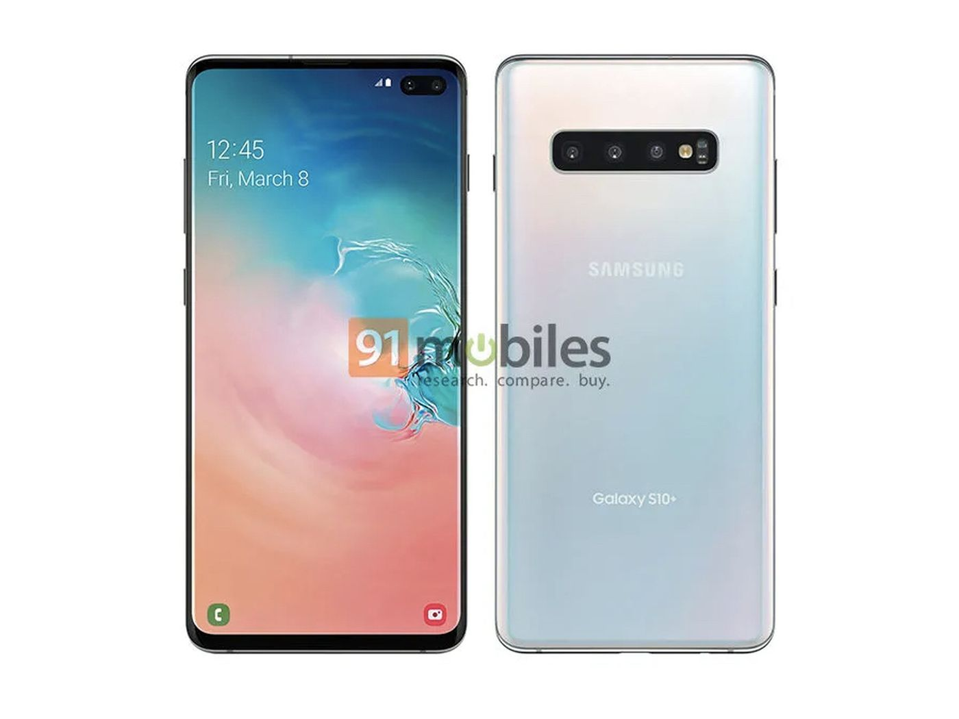 New Leaked Press Images Of Samsung Galaxy S10 Plus The Verge