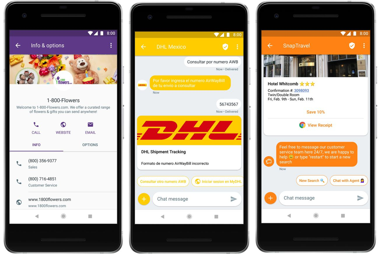 businesses can now send android users multimedia texts via rcs