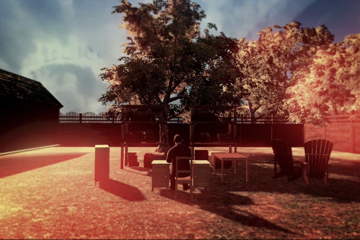 Virtual-reality re-creations of experiences with deceased loved ones, like Gabriel Barcia-Colombo's work here, could become an increasingly common part of the modern grieving and remembrance process. (Courtesy Barcia-Colombo)