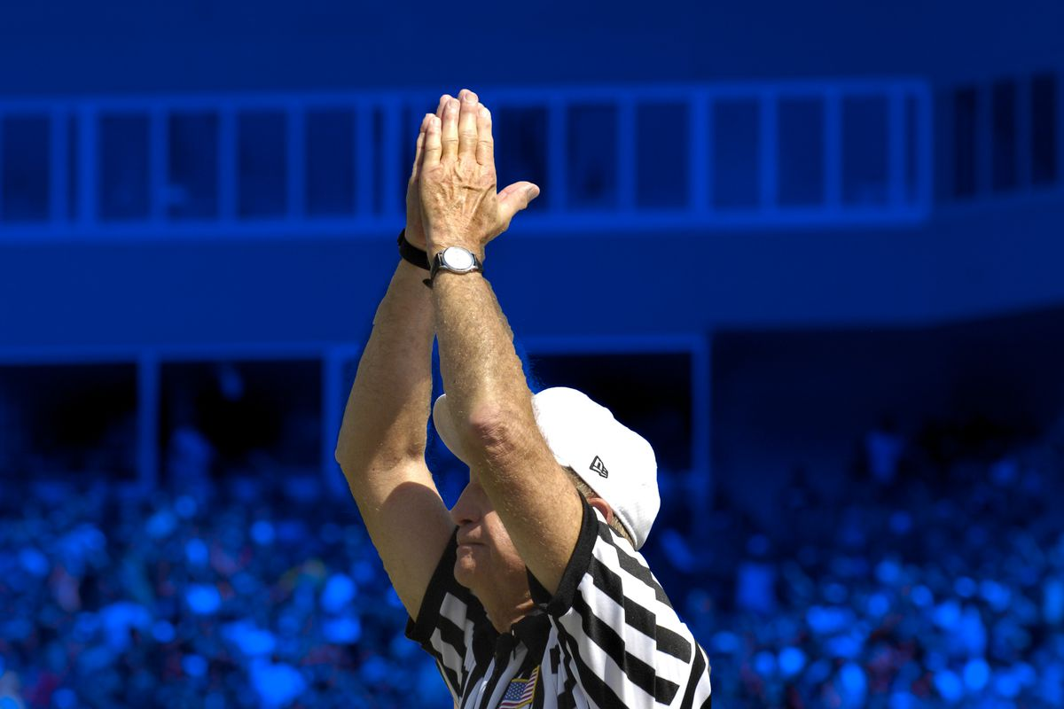 Safety signal by a referee