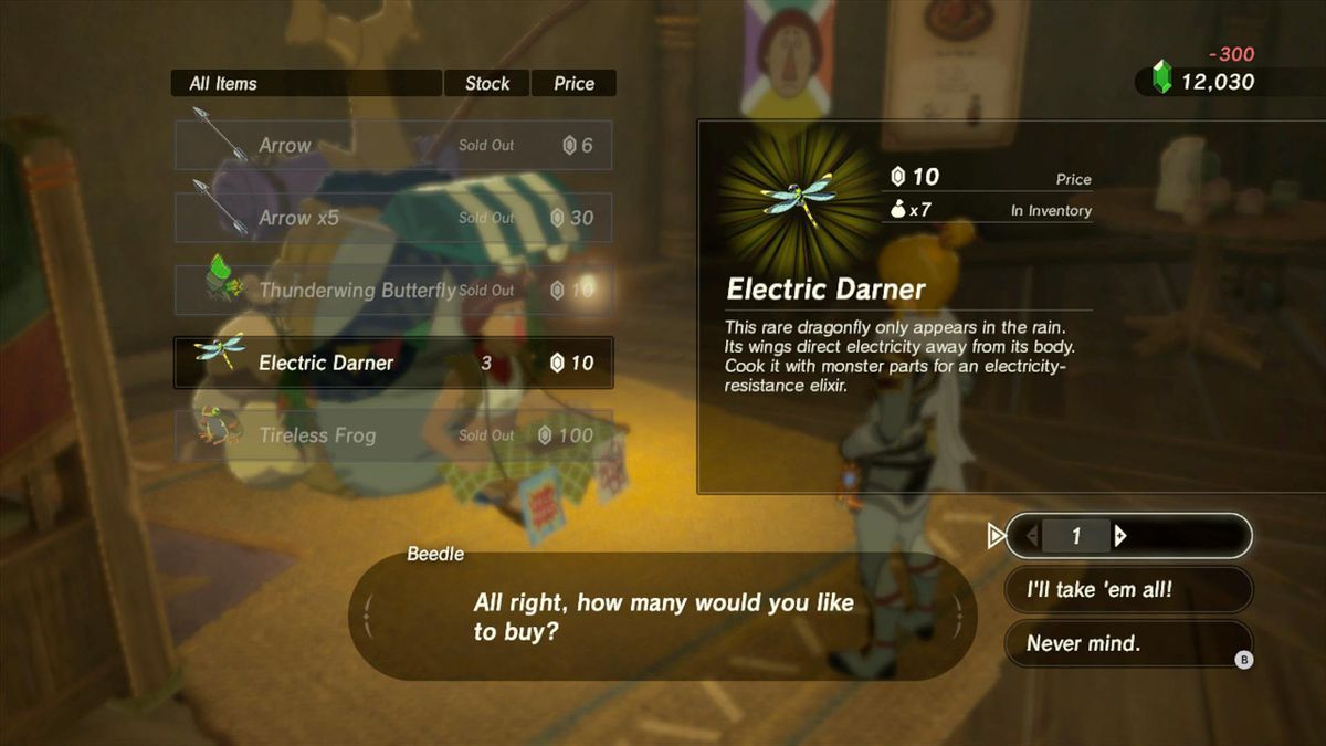 electric darner botw location