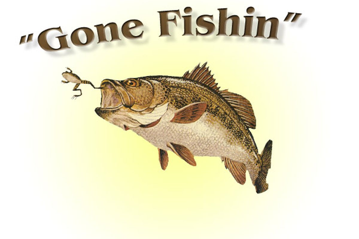"""Unclear as to why this fish is eating a frog via <a href=""""http://fergus.files.wordpress.com/2007/02/gone-fishin.jpg"""">fergus.files.wordpress.com</a>"""
