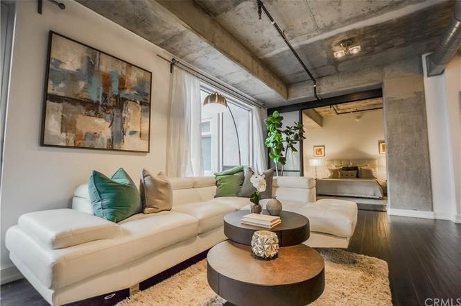 Living room of loft
