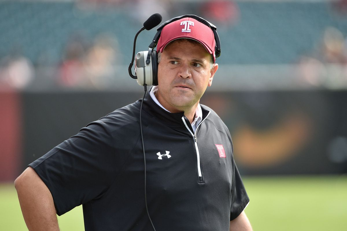 Temple head coach Mark Rhule