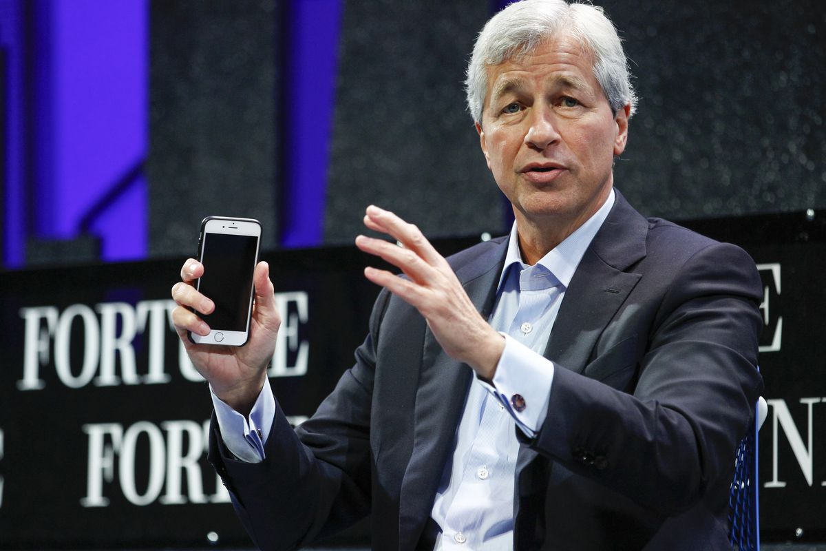Jamie Dimon speaks during the Fortune Global Forum.