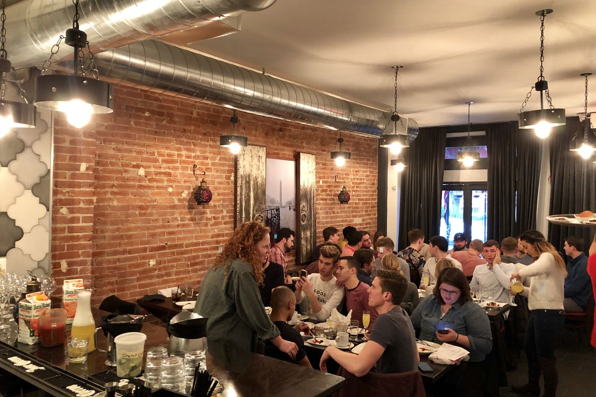 This Month Agora Expanded Into Its Next Door E To Accommodate Brunch And Dinner Diners Tierney Plumb Eater Dc Mediterranean Restaurant