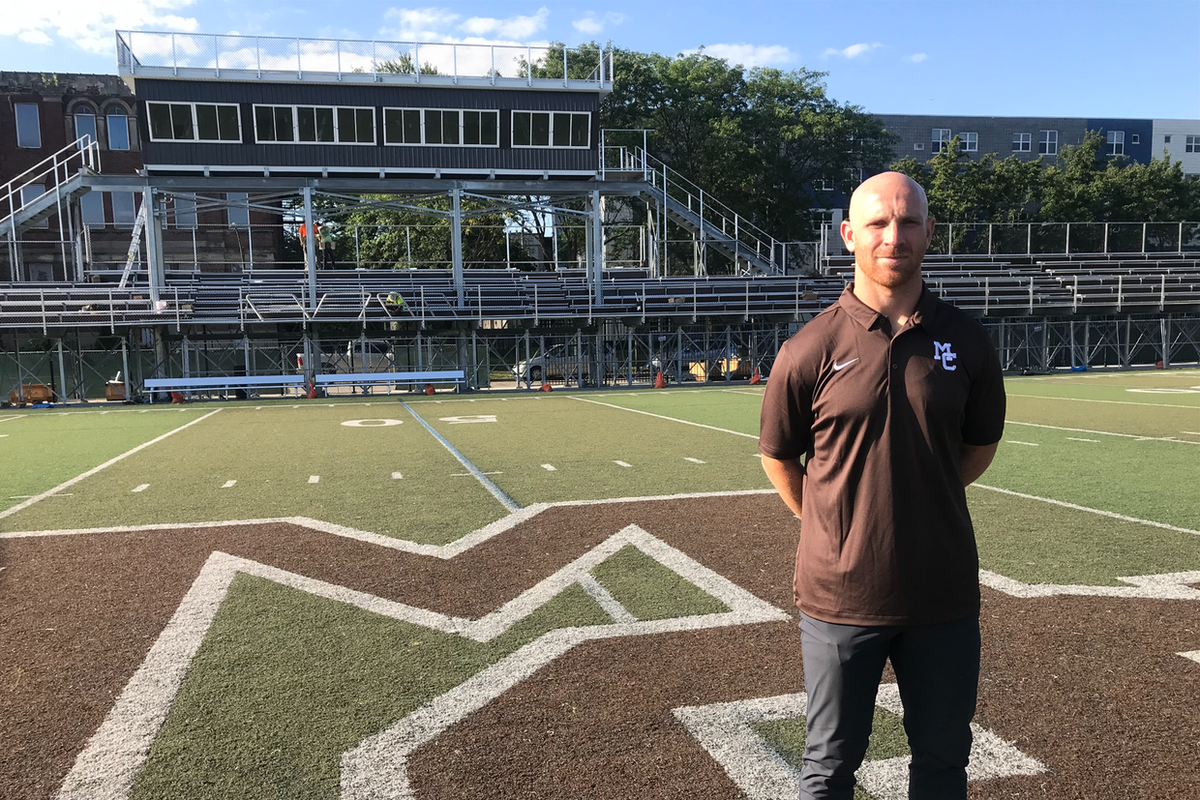 Mount Carmel coach Jordan Lynch says the alumni, coaches and players are excited about having an on campus stadium.