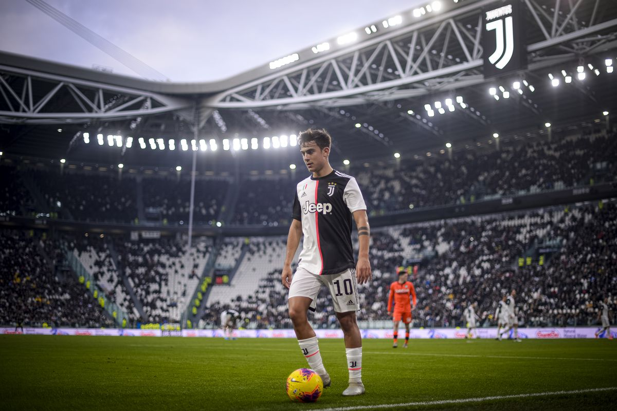Paulo Dybala of Juventus FC looks on during the Serie A...