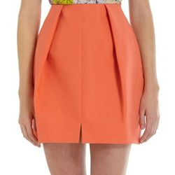 """Barneys: Carven Inverted Pleat Skirt, $340.00. Available <a href=""""http://www.barneys.com/Inverted-Pleat-Skirt/501519430,default,pd.html?cgid=CLOTH05-1"""">here</a>."""