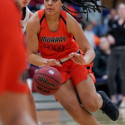 Murray and Woods Cross compete in a 5A girls basketball first-round game in Woods Cross on Tuesday, Feb. 18, 2020.