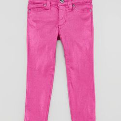 "<span class=""credit""><em>Joe's Jeans Girl's Stretch Glitter Denim Leggings in Orchid, <a href=""http://www.joesjeans.com/Glitter-Jegging--Girls/-4870176332714697828/Product?sku=GWL381200-8-WLDO"">$59</a>, Joe's Jeans at Fashion Show</em></span>"