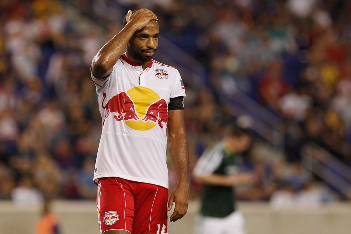 Thierry Henry.  (Photo by Mike Stobe/Getty Images for New York Red Bulls)