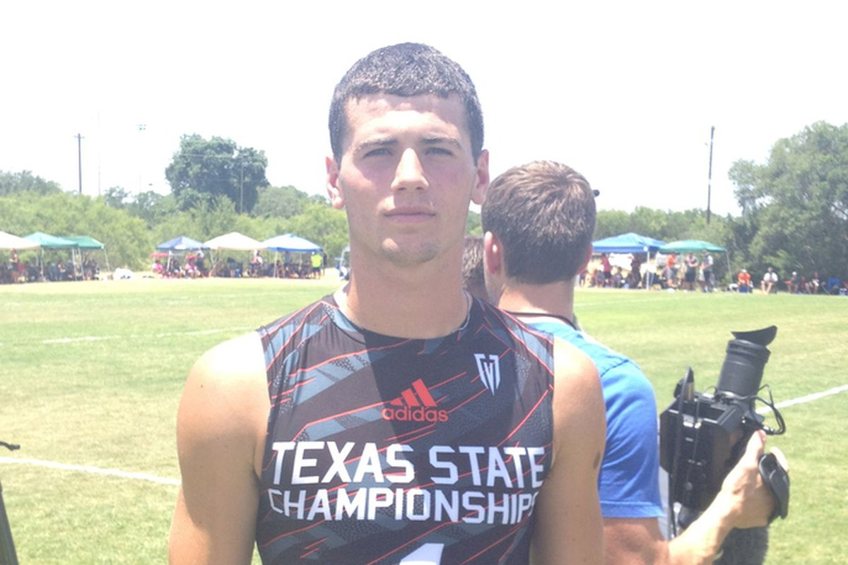Jarrett Stidham at Texas State 7on7 in 2013