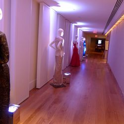 """Mannequins lead the way to the Park Hyatt Inauguration-themed <a href=""""http://www.saksfifthavenue.com/Entry.jsp"""">Saks Fifth Avenue</a> pop-up."""