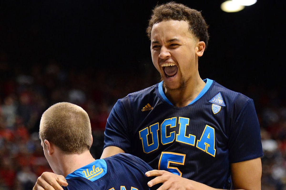 UCLA was ecstatict to earn the Pac-12's automatic bid to the NCAA Tournament by beating Arizona in the Conference Tournament Title game.