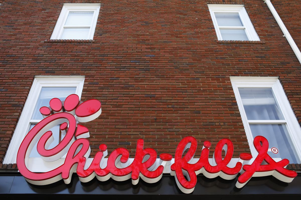 In this Oct. 30, 2018 file photo, a Chick-fil-A location is set to open in downtown Athens, Ga.