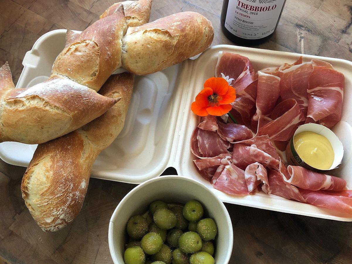 To-go charcuterie board at Bartavelle