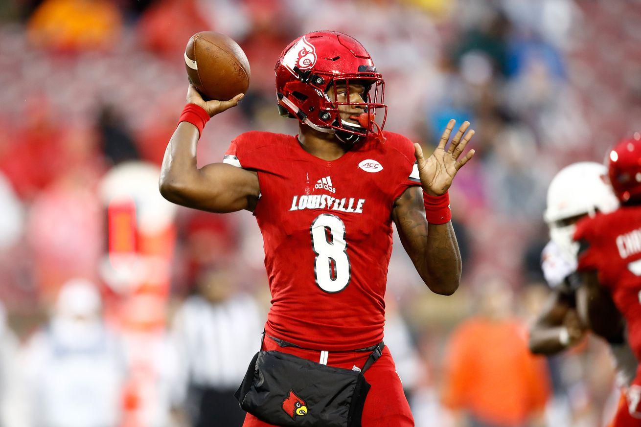 Louisville will retire Lamar Jackson's No. 8 on Nov. 13