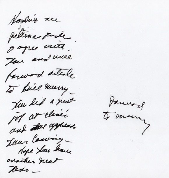 Paul Bear Bryant Note To Devaney