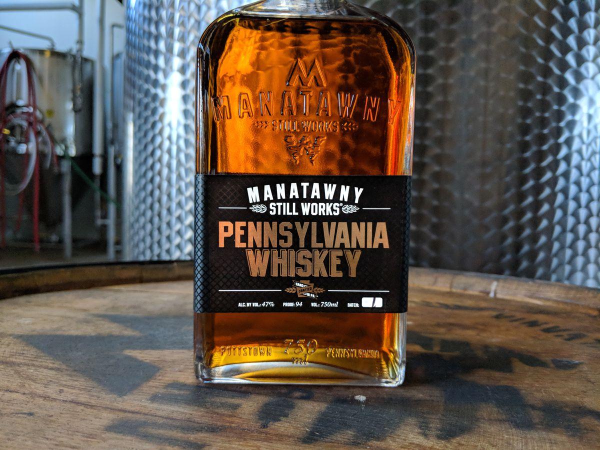 bottle of whiskey made in pennsylvania