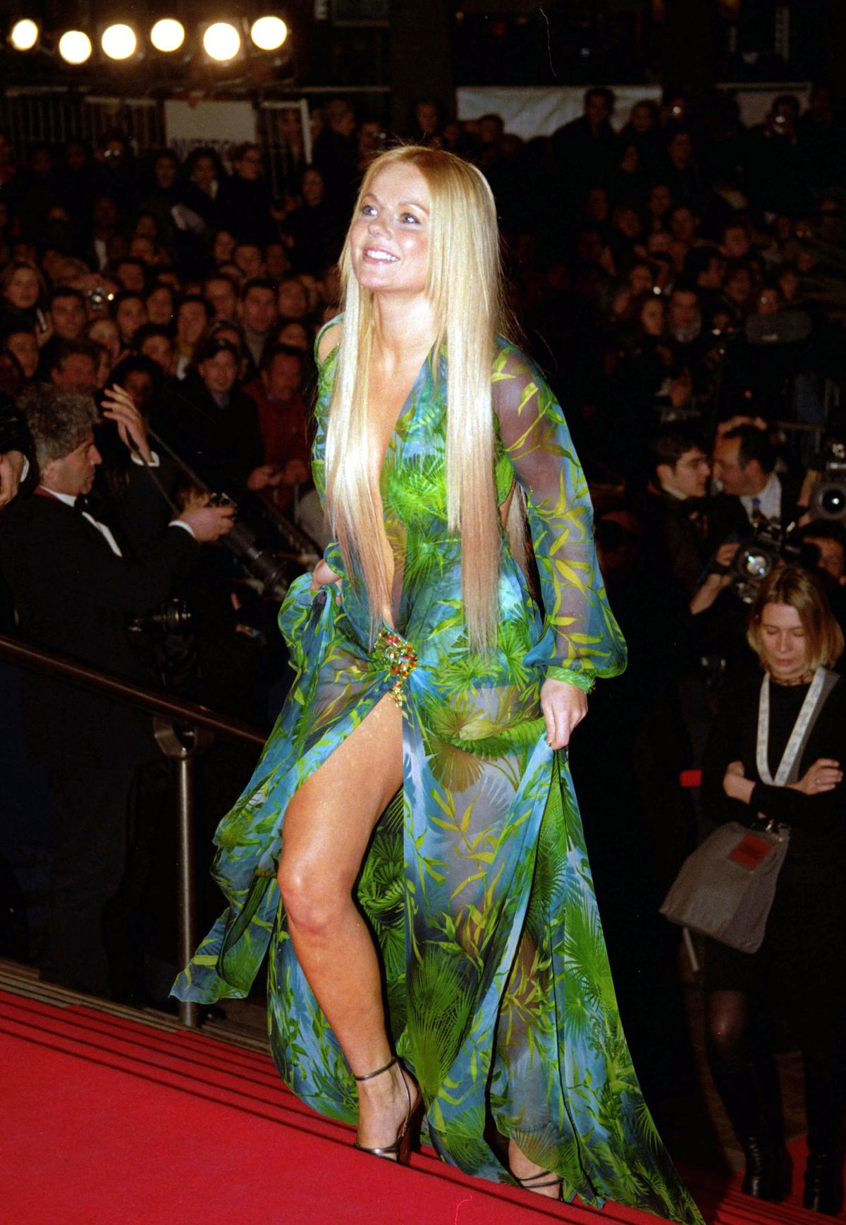 Geri Halliwell in the dress at the 2000 NRJ Music Awards in Cannes, France.