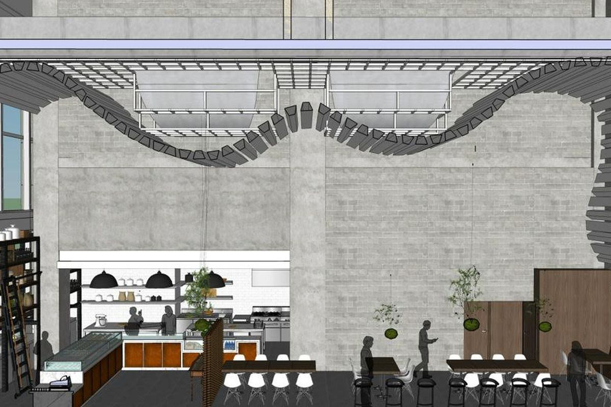 Rendering of Bachour Bakery and Bistro
