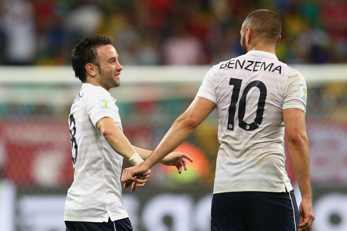 French players, Valbuena and Benzema.