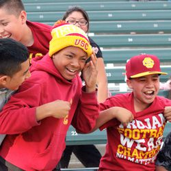 Young USC fans in attendance.