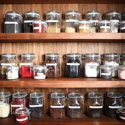 The spice rack.
