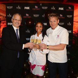 Gary Selesner, president of Caesars Palace, Hell's Kitchen Season 11 winner Ja'Nel Witt and chef Gordon Ramsay.
