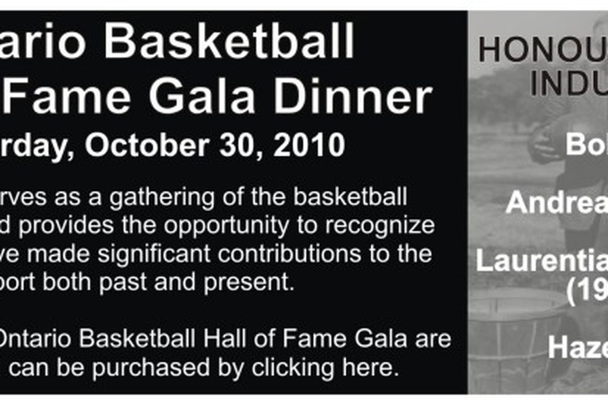 Don't forget that the Ontario Basketball Gala Dinner is tomorrow night people.