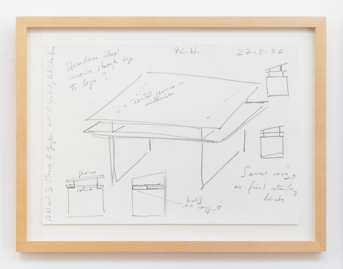 Sketch of table