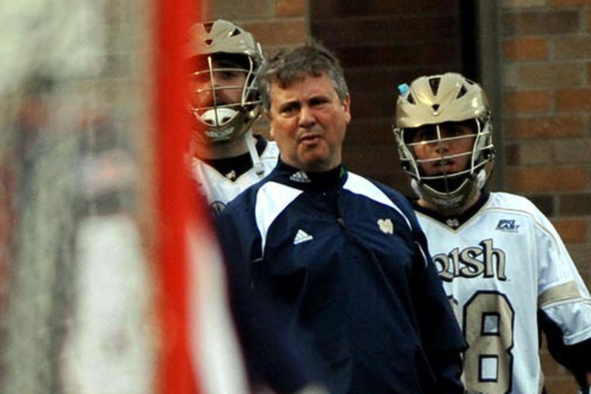Coach Kevin Corrigan and the ND Irish are coming off a 13-6 victory over PENN