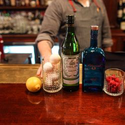 The makings of the Clover Club.