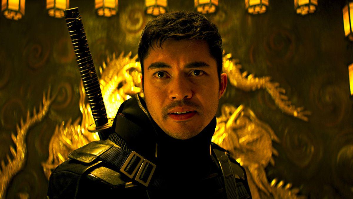 Henry Golding in ninja gear as Snake Eyes