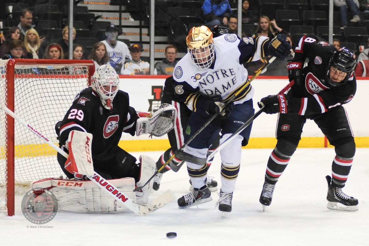 Steven Fogarty (26) against St. Cloud State in 2014.