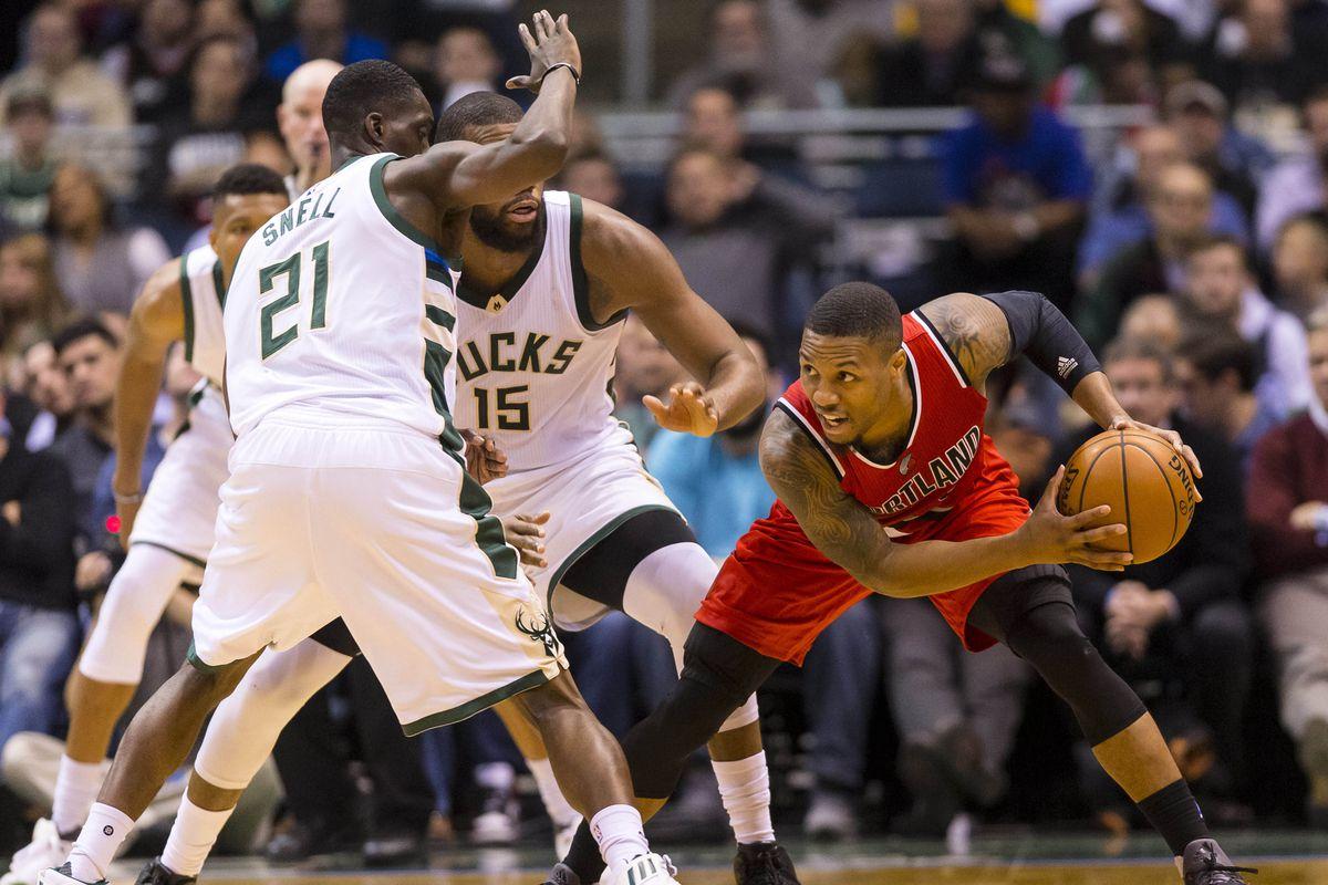 NBA: Portland Trail Blazers at Milwaukee Bucks