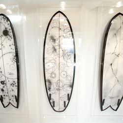 Futura x Stampd surfboards. Only four were produced.