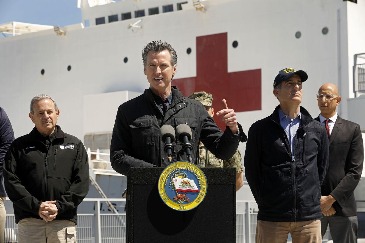 Hospital Ship USNS Mercy Arrives at the Port of Los Angeles