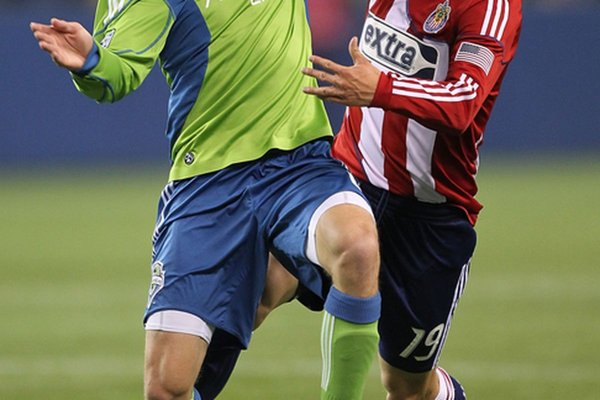 Hurt Osvaldo Alonso, Houston, and you will face the wrath of Seattle. (Photo by Otto Greule Jr/Getty Images)