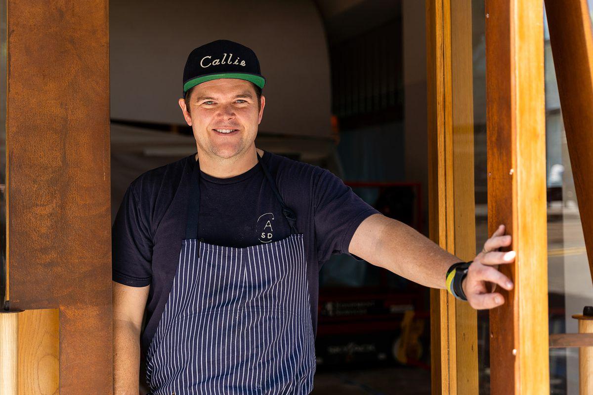 Chef Travis Swikard in front of Callie