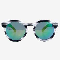 "Illesteva ""Leonard II"" striped frame mirrored lense sunglasses, <a href=""http://www.intermixonline.com/product/illesteva+leonard+ii+striped+frame+mirrored+lense+sunglasses.do?sortby=priceAscend&CurrentCat=104686"">$169</a> (were $290) at Intermix"